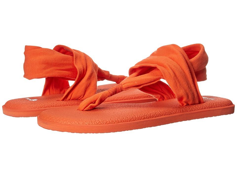 Sanuk Yoga Sling 2 Spectrum (Nasturtium) Sandals