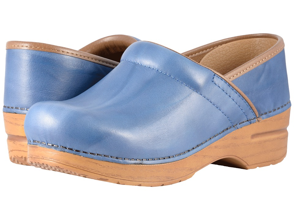 60s Shoes, Boots | 70s Shoes, Platforms, Boots Dansko - Professional Blue Scrunch Womens Clog Shoes $129.95 AT vintagedancer.com