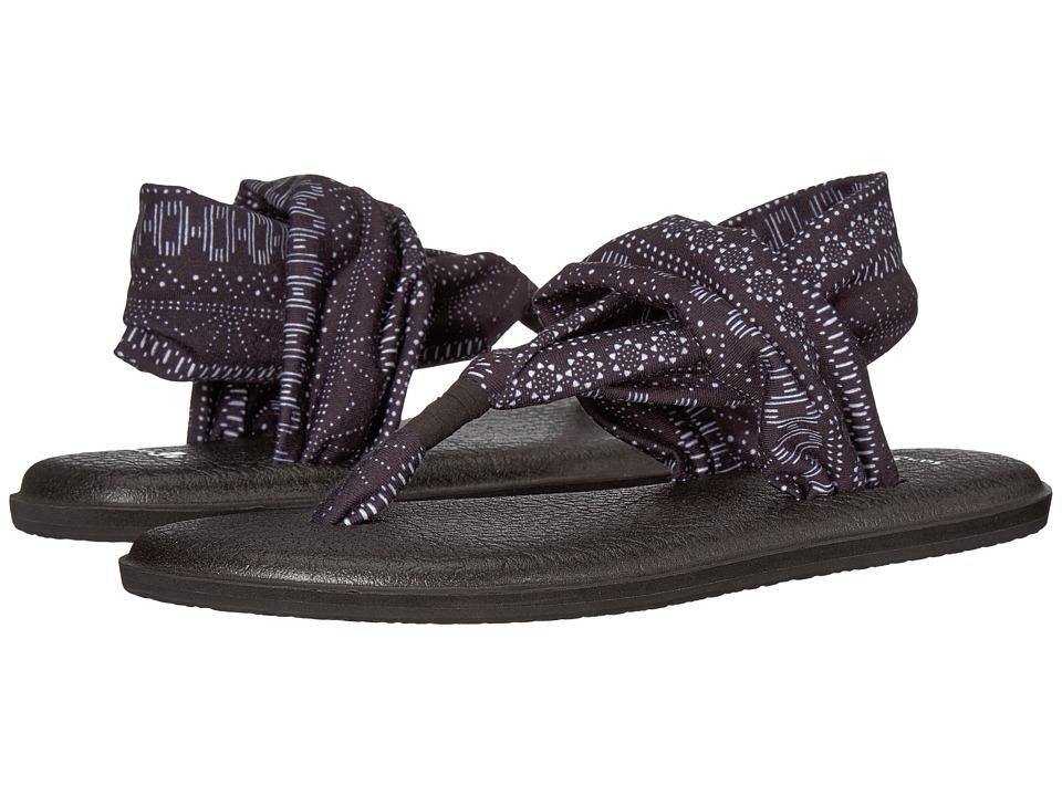 Sanuk Yoga Sling 2 Prints (Black/White Shibori Stripes) Sandals