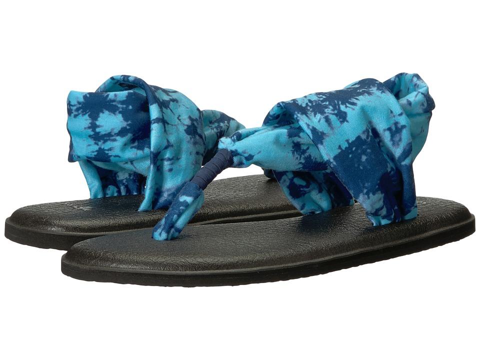 Sanuk Yoga Sling 2 Prints (Navy Tye-Dye) Sandals
