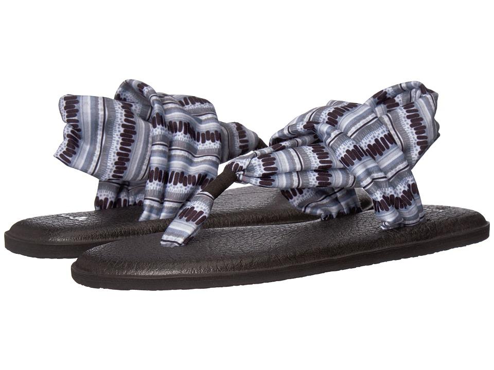 Sanuk Yoga Sling 2 Prints (Black/White Island Stripe) Sandals