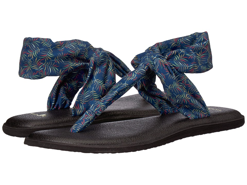 Sanuk Yoga Sling Ella Prints (Navy Paradise Palms) Sandals