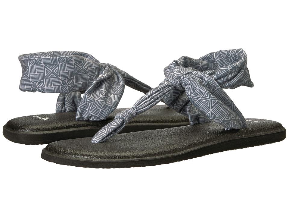 Sanuk Yoga Sling Ella Prints (Grey Tiki Tile) Sandals