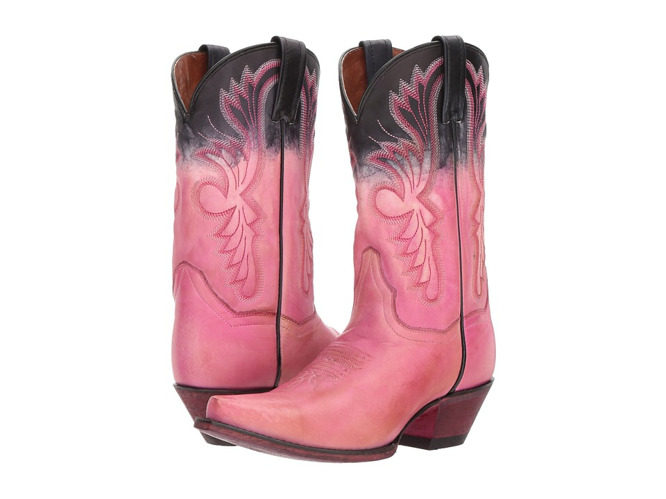 Dan Post - Wild Ride (Pink/Black) Cowboy Boots