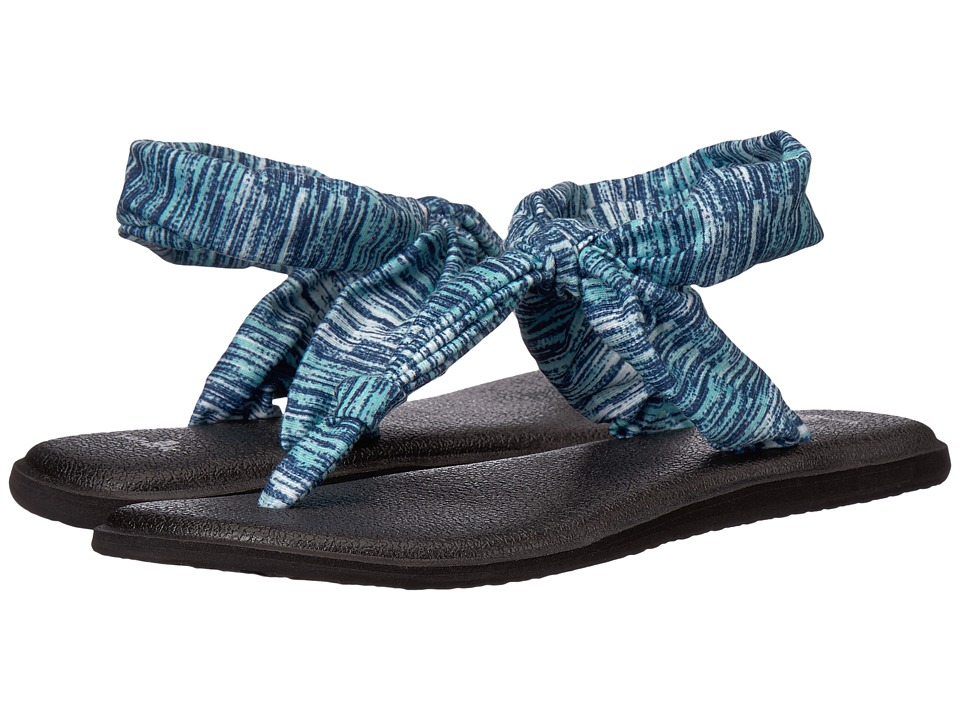Sanuk - Yoga Sling Ella Prints (Navy Space Dye) Women's Sandals