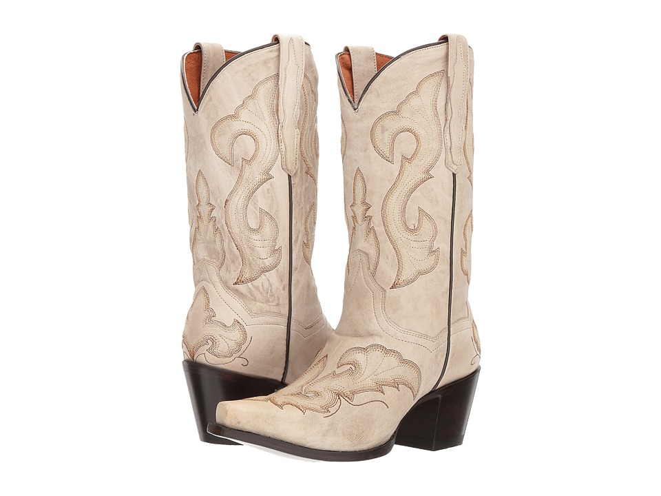 Dan Post Stormy (Distressed White) Cowboy Boots