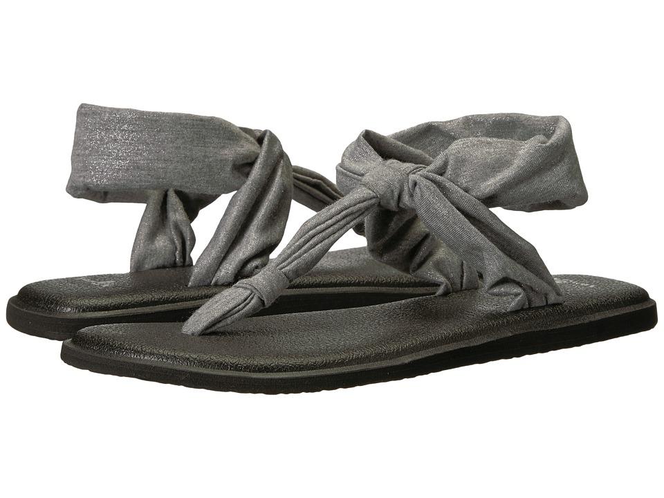 Sanuk - Yoga Sling Ella Metallic (Metallic Silver) Women's Sandals