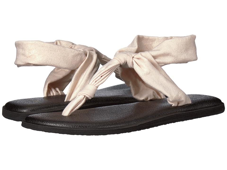 Sanuk Yoga Sling Ella Metallic (Rose Gold) Sandals