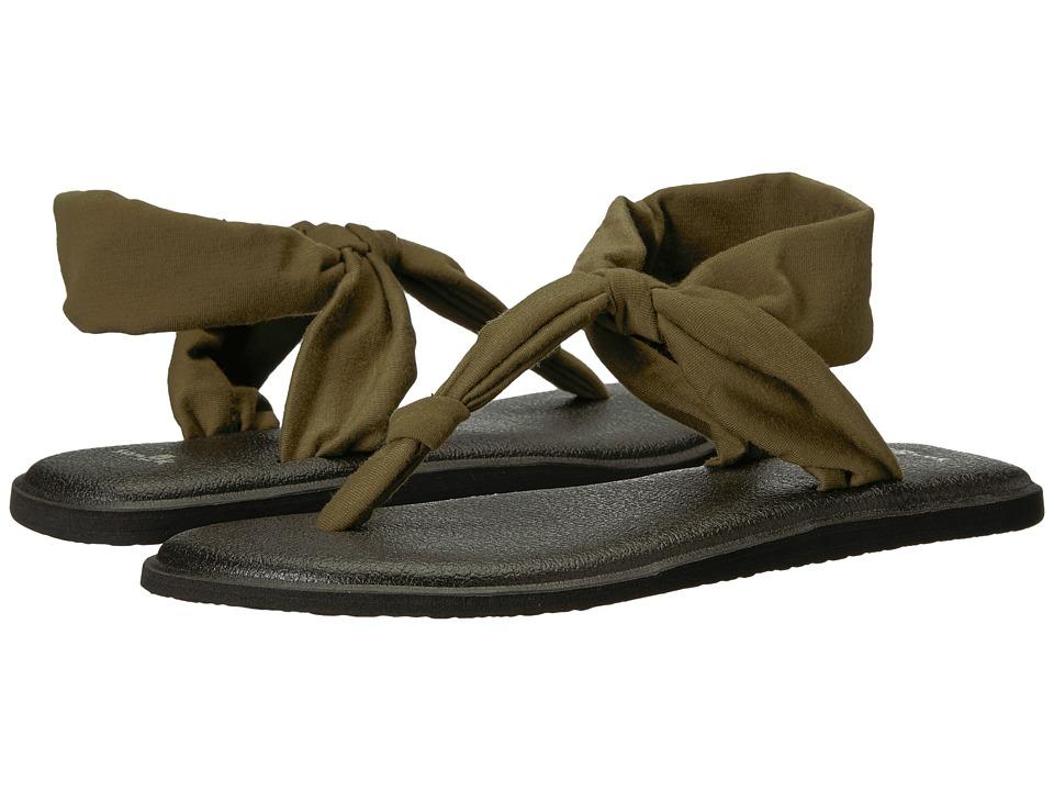 Sanuk Yoga Sling Ella (Dark Olive) Sandals