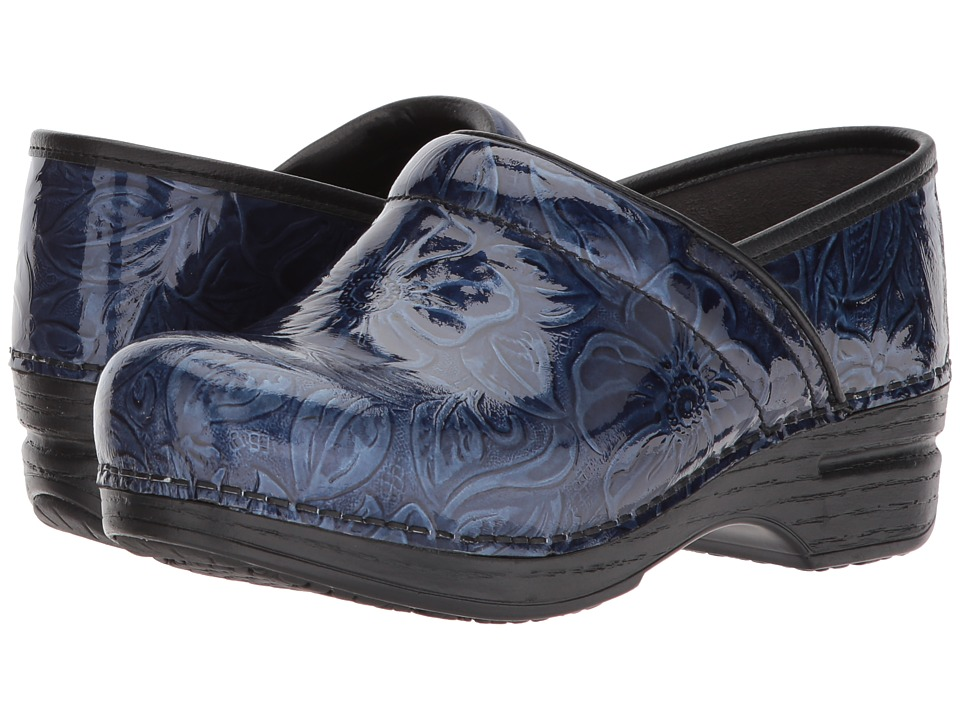 Dansko Pro XP (Navy Tooled Patent) Women's Clog Shoes