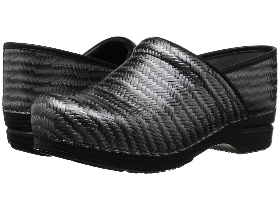 Dansko Pro XP (Grey Herringbone Patent) Women's Clog Shoes