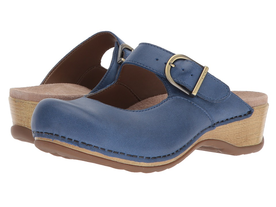 Dansko - Martina (Blue Burnished Nappa) Womens Clog Shoes