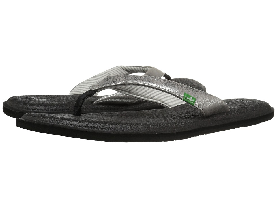 Sanuk - Yoga Chakra Metallic (Silver) Women's Sandals