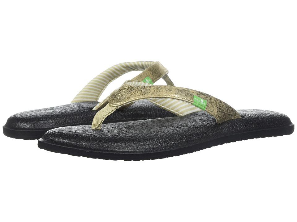 Sanuk Yoga Chakra Metallic (Champagne) Sandals
