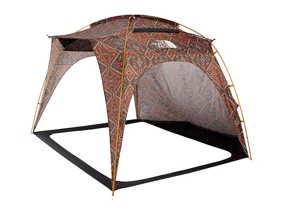 The North Face - Homestead Shelter (Tandori Spice Red Reno Casino Print/Weathered Black) Outdoor Sports Equipment