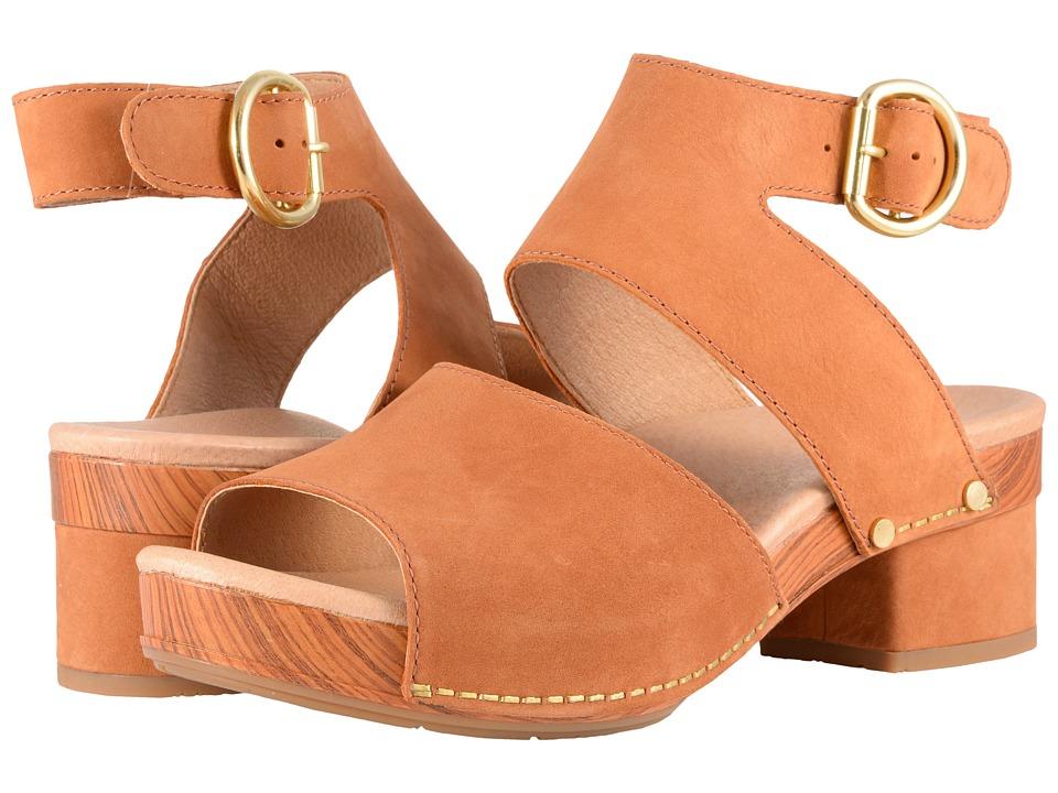 60s Shoes, Boots | 70s Shoes, Platforms, Boots Dansko - Minka Camel Milled Nubuck Womens Toe Open Shoes $139.95 AT vintagedancer.com