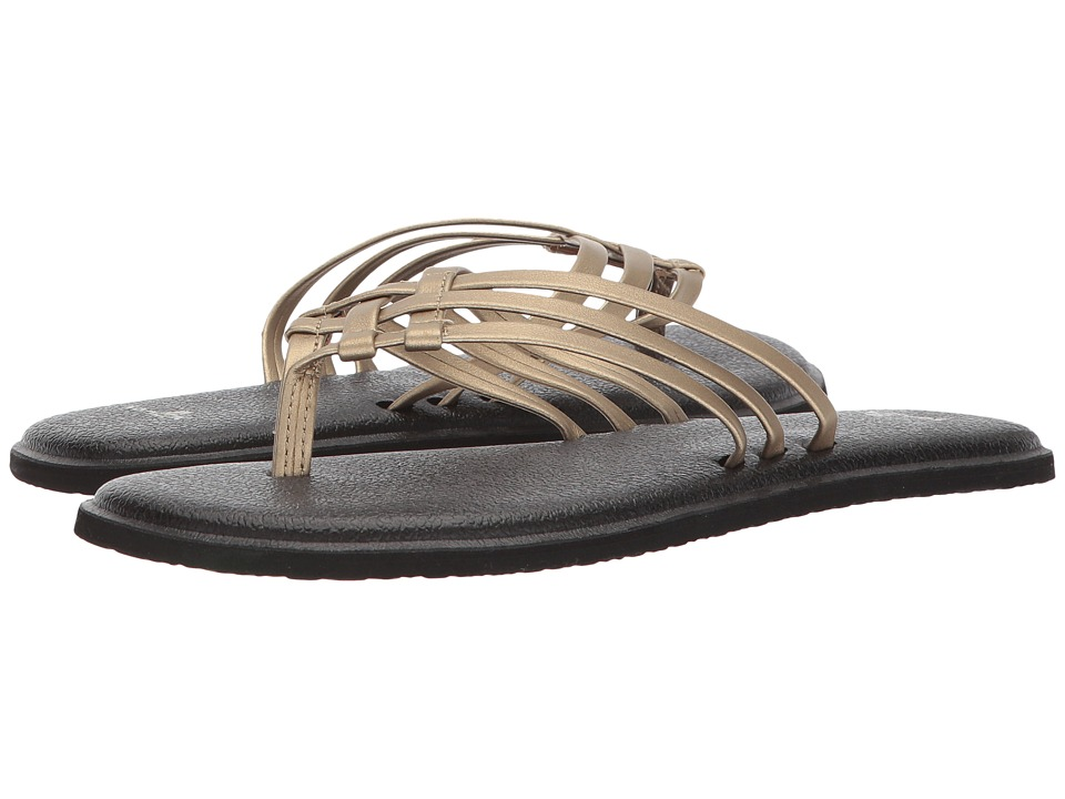 Sanuk - Yoga Salty Metallic (Champagne) Women's Sandals