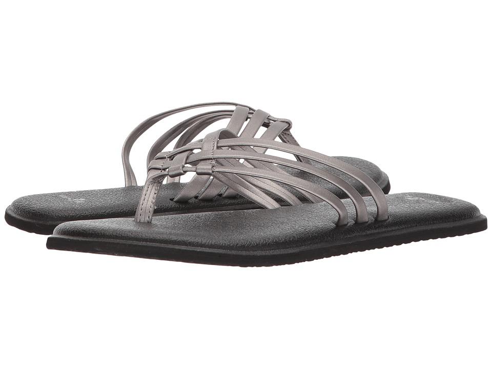 Sanuk Yoga Salty Metallic (Pewter) Sandals