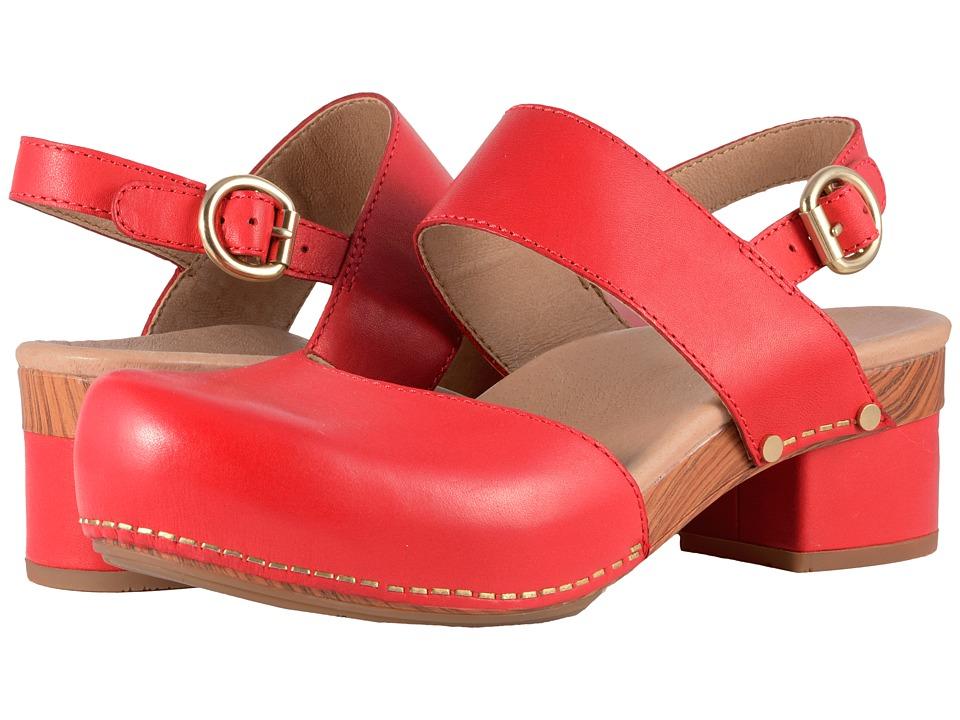 60s Shoes, Boots | 70s Shoes, Platforms, Boots Dansko - Malin Tomato Full Grain Womens Shoes $139.95 AT vintagedancer.com