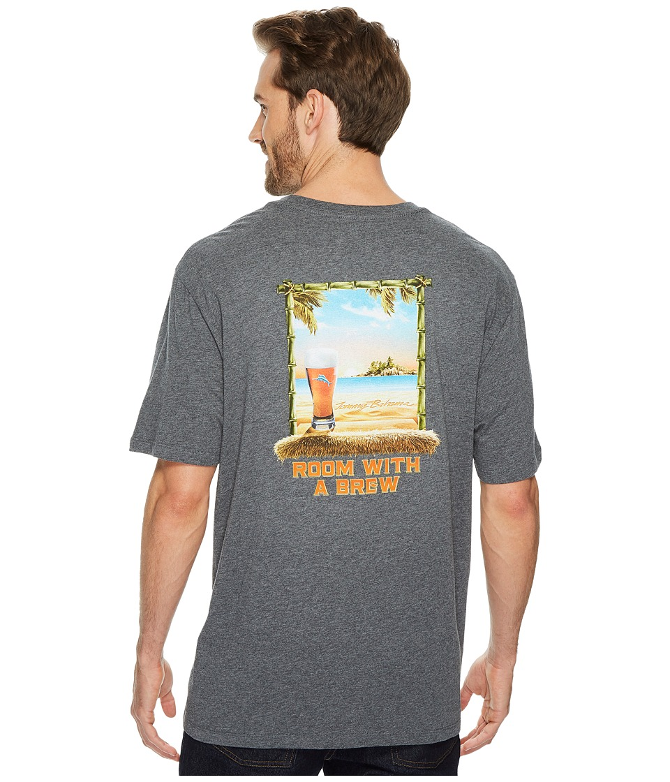 Tommy Bahama Room w/ A Brew T-Shirt (Charcoal Heather) Men