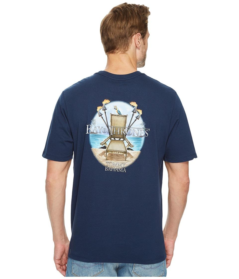 Tommy Bahama Bay of Thrones T-Shirt (Navy) Men