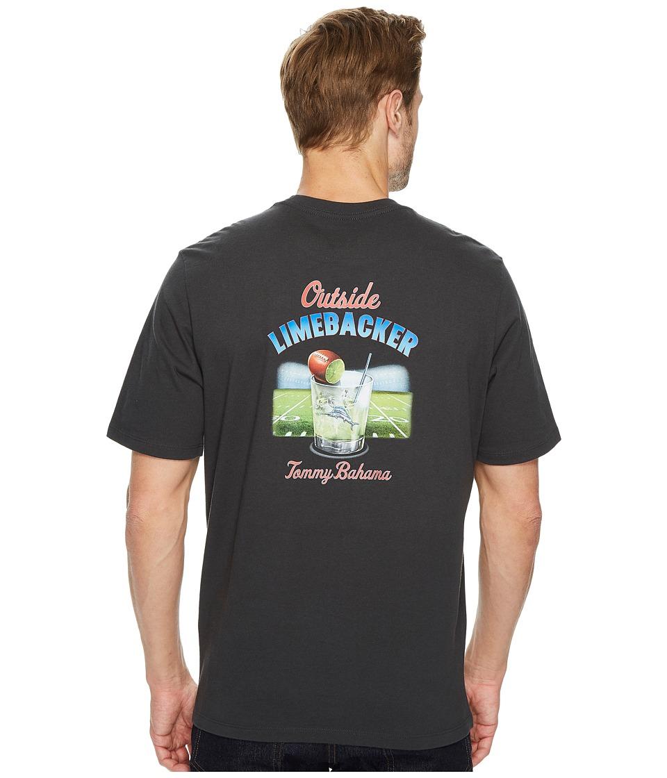 Tommy Bahama Outside Limebacker T-Shirt (Coal) Men