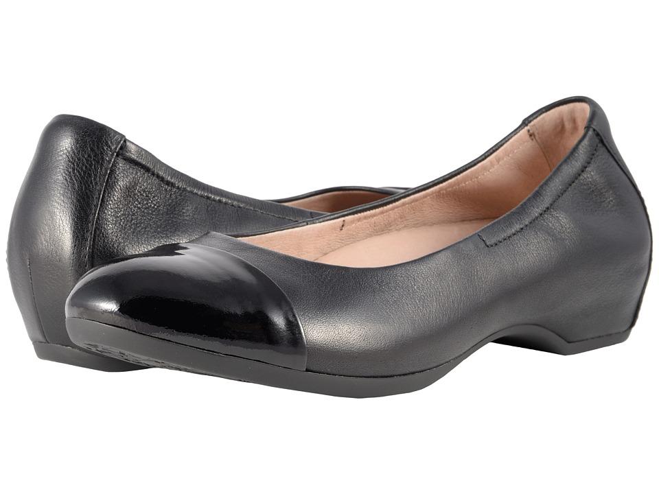 Dansko Lisanne (Black/Black Milled Nappa) Flats