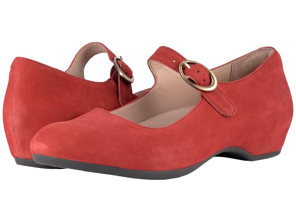 Dansko Linette (Red Milled Nubuck) Women's Maryjane Shoes