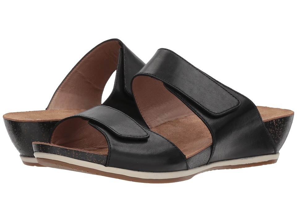 Dansko - Vienna (Black Full Grain) Women's Sandals