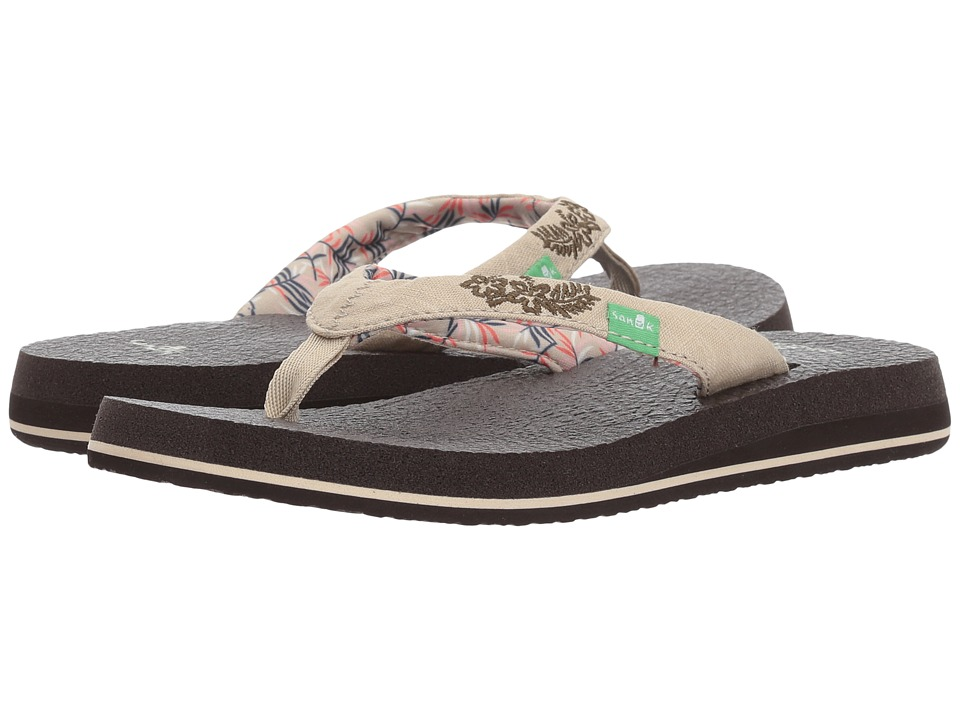 Sanuk - Yoga Paradise 2 (Natural Paradise Palms) Women's Sandals