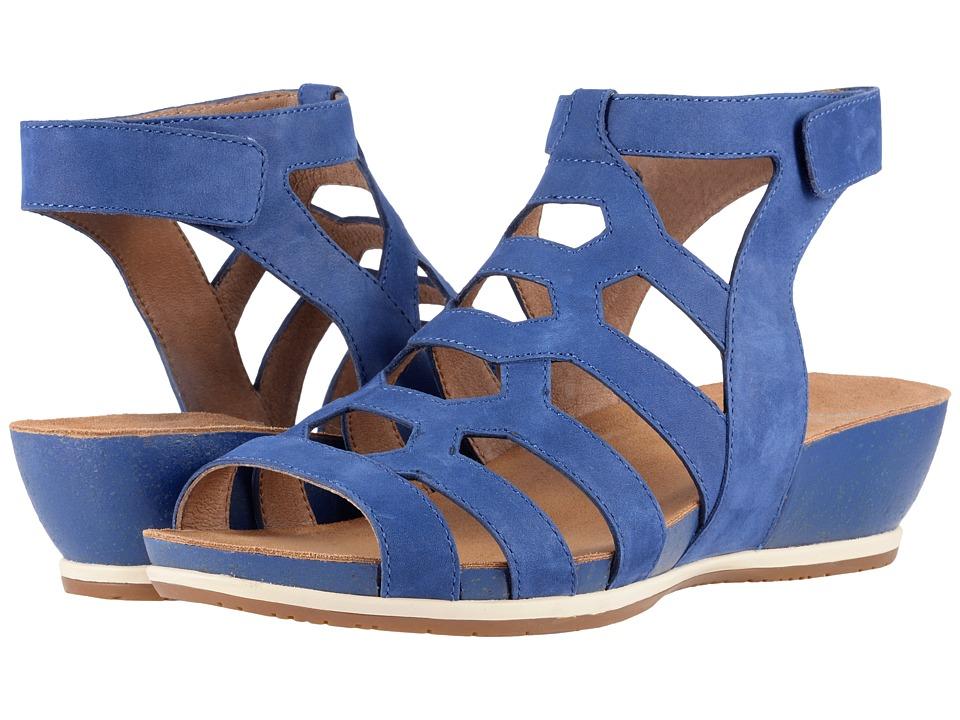 Dansko Valentina (Blue Milled Nubuck) Women's Shoes