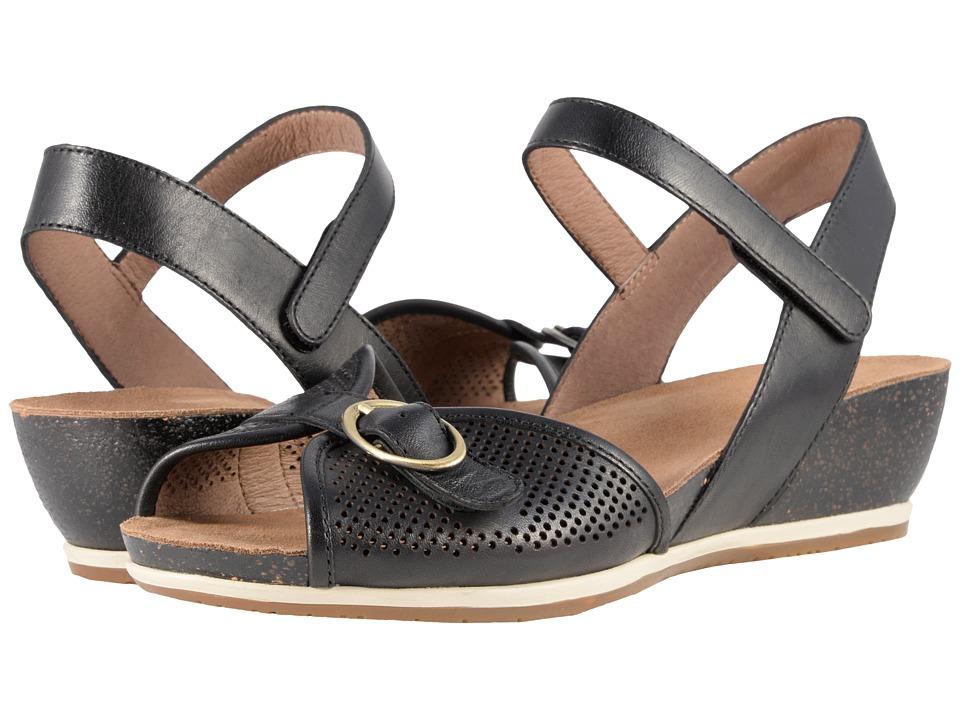 1930s Style Shoes – Art Deco Shoes Dansko - Vanna Black Full Grain Womens  Shoes $139.95 AT vintagedancer.com