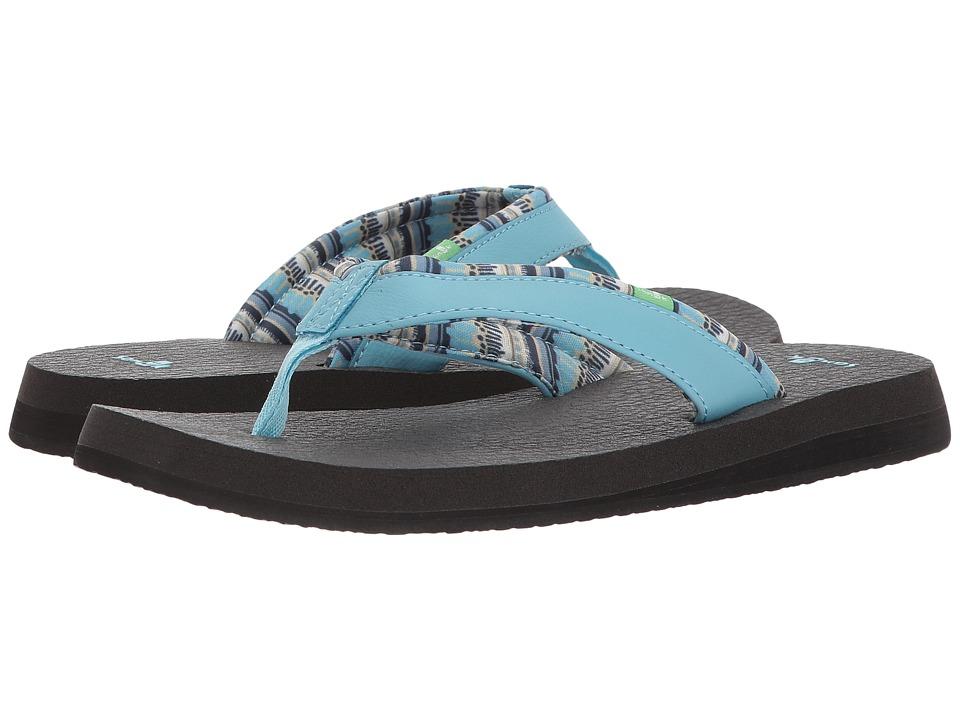 Sanuk Yoga Mat 2 Prints (Blue Topaz) Sandals