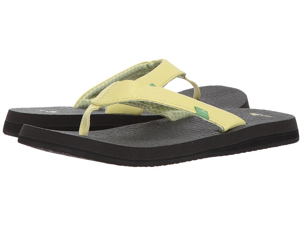 Sanuk Yoga Mat (Yellow Pear) Sandals