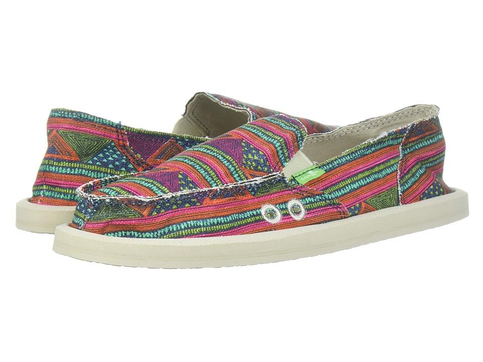 Sanuk Donna (Multi Geo Stripes) Slip-On Shoes