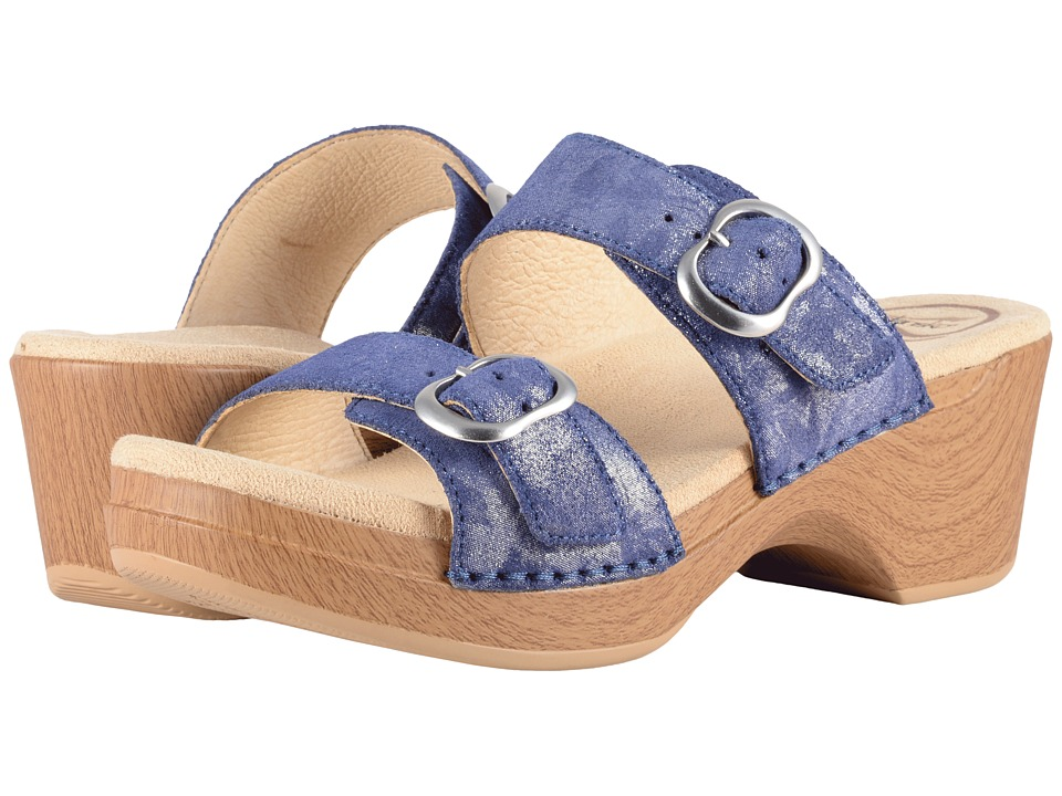 Dansko - Sophie (Blue Shimmer Metallic) Womens Sandals