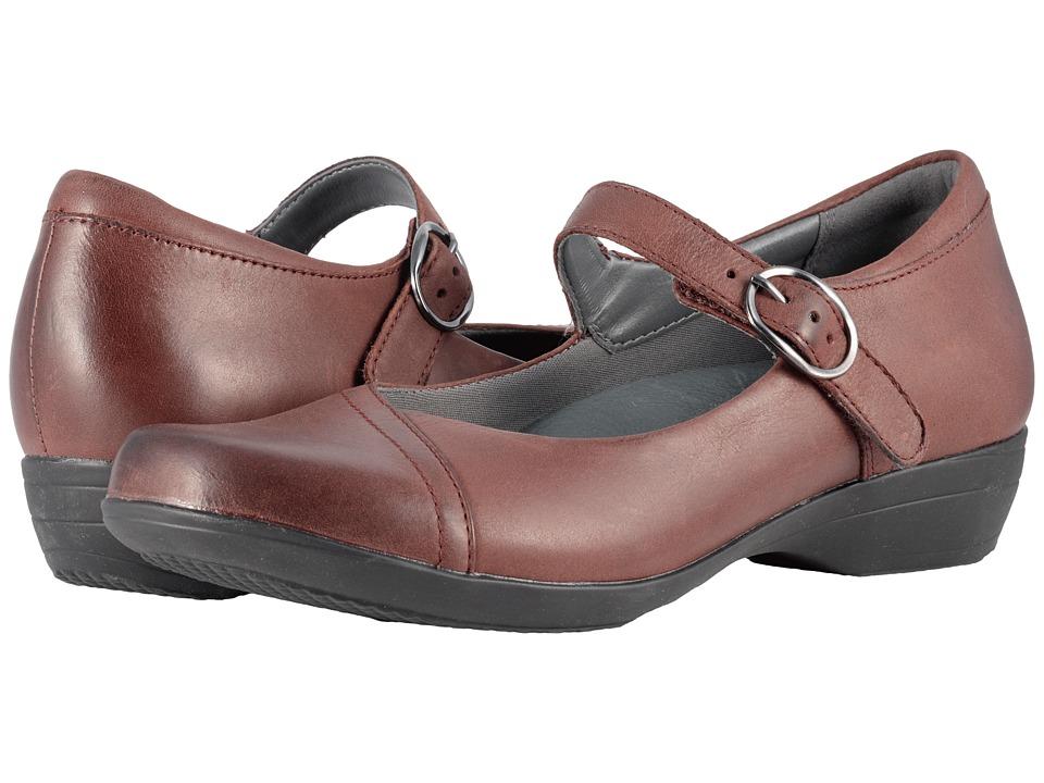 Dansko Fawna (Wine Burnished Nappa) Women's Shoes