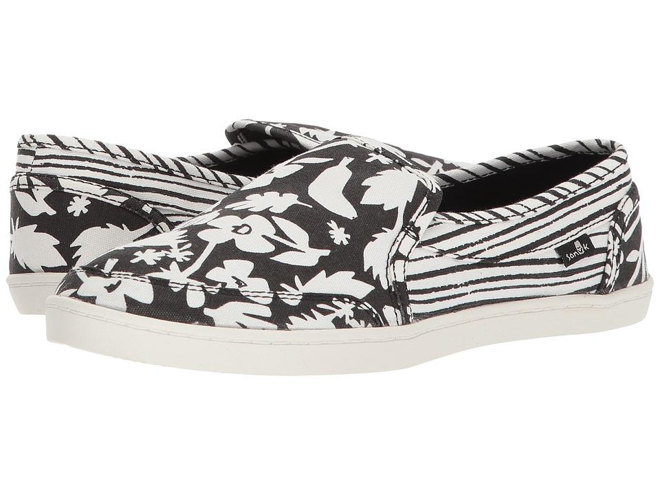 Sanuk Pair O Dice Prints (Black/White) Slip-On Shoes