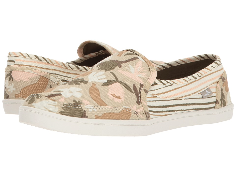 Sanuk Pair O Dice Prints (Natural) Slip-On Shoes