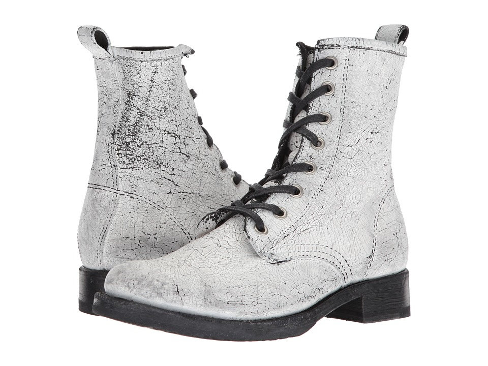 Frye Veronica Combat (White) Women's Lace-up Boots