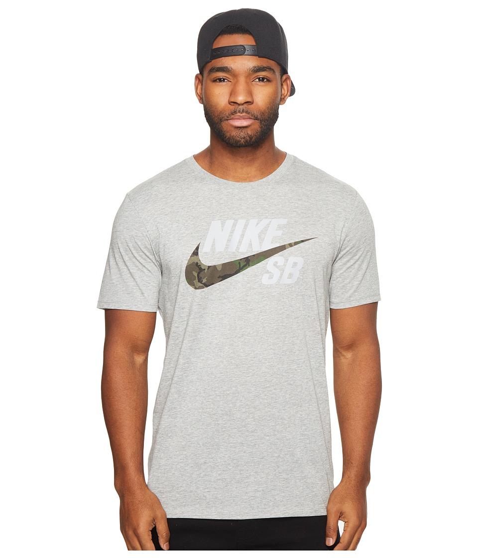 Nike SB SB Dri-FIT Skateboarding T-Shirt (Dark Grey Heather/Dark Grey Heather) Men