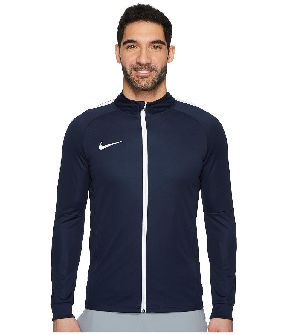 Nike - Dri-FIT Academy Soccer Track Jacket (Obsidian/White/White) Mens Coat