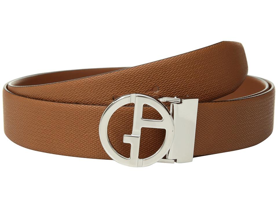 Giorgio Armani Chevron/Smooth Reversible Belt (Rosey) Men...