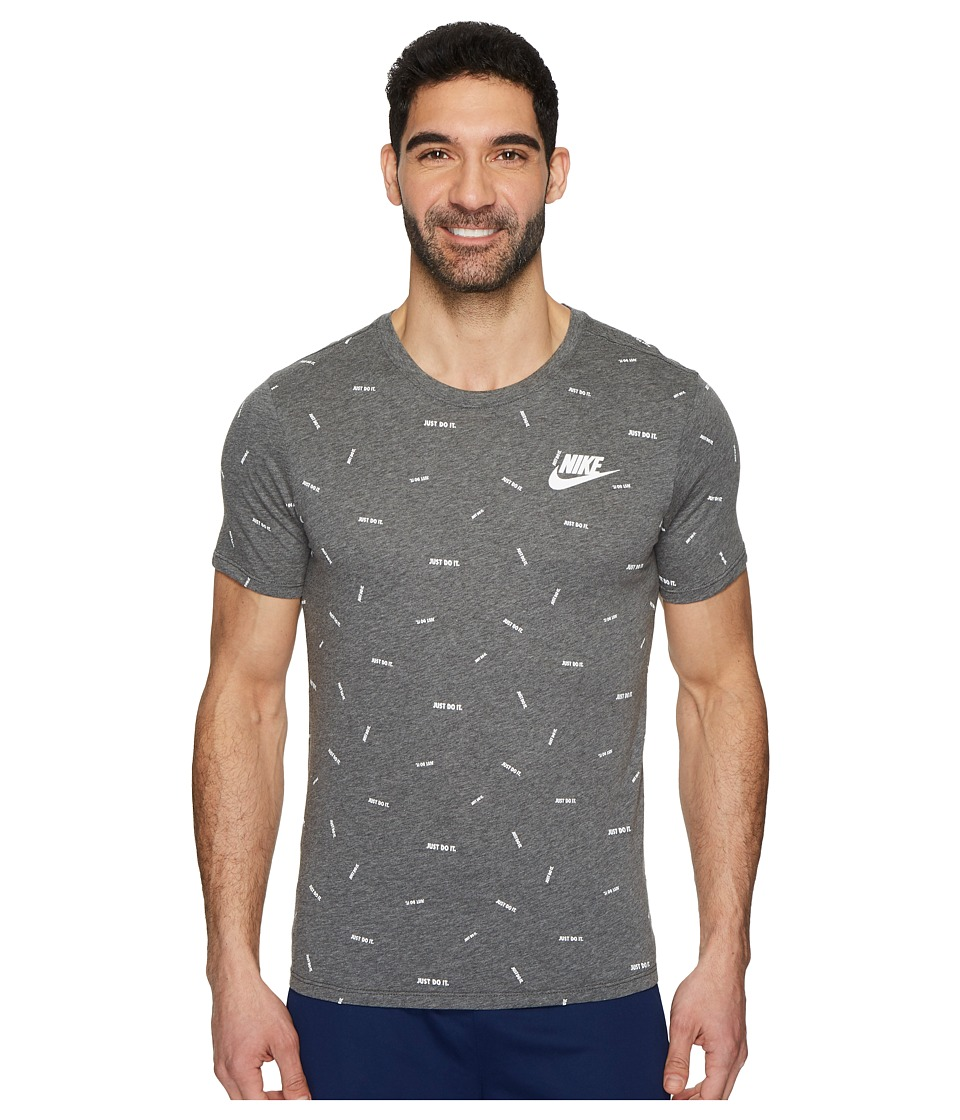 Nike Sportswear Just Do It T-Shirt (Charcoal Heather/White) Men
