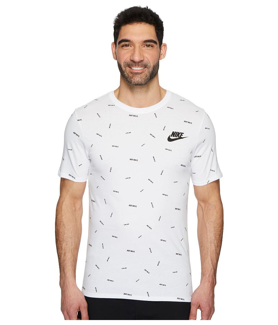Nike Sportswear Just Do It T-Shirt (White/Black) Men