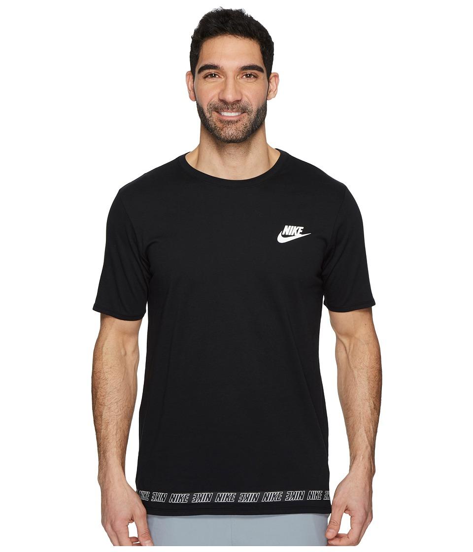 Nike Sportswear Droptail T-Shirt (Black/White) Men