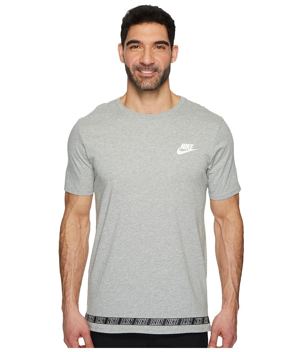 Nike Sportswear Droptail T-Shirt (Dark Grey Heather/White) Men