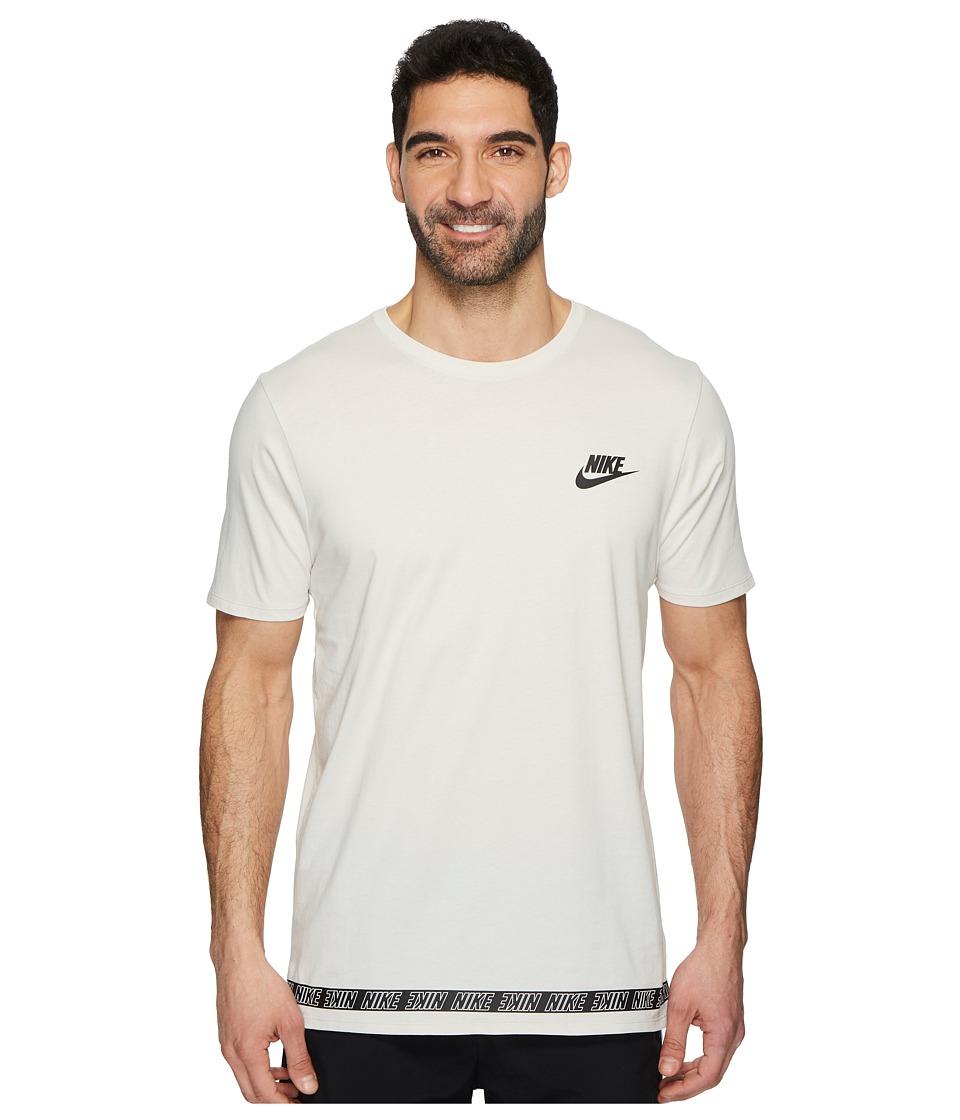 Nike Sportswear Droptail T-Shirt (Light Bone/Black) Men