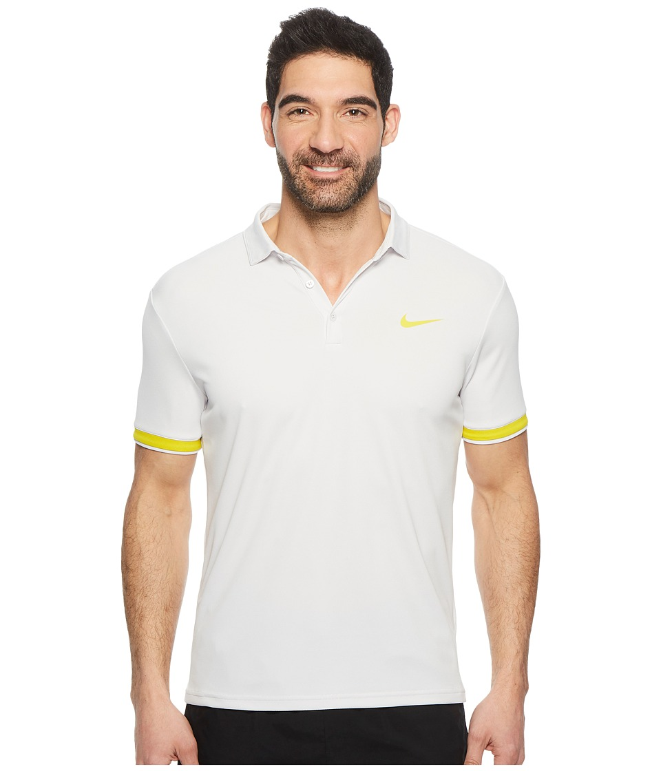 Nike Court Dry Tennis Polo (Vast Grey/Bright Citron/Bright Citron) Men