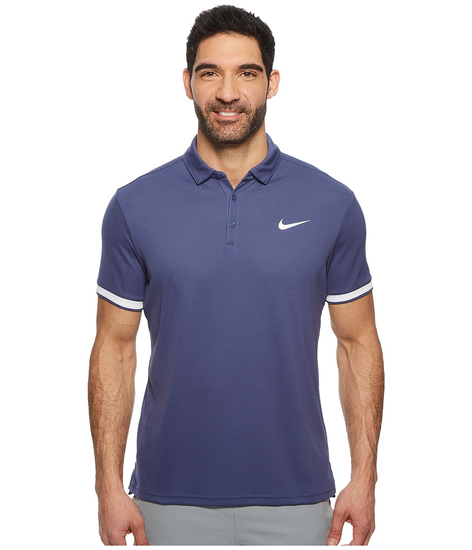 Nike Court Dry Tennis Polo (Blue Recall/White/White) Men